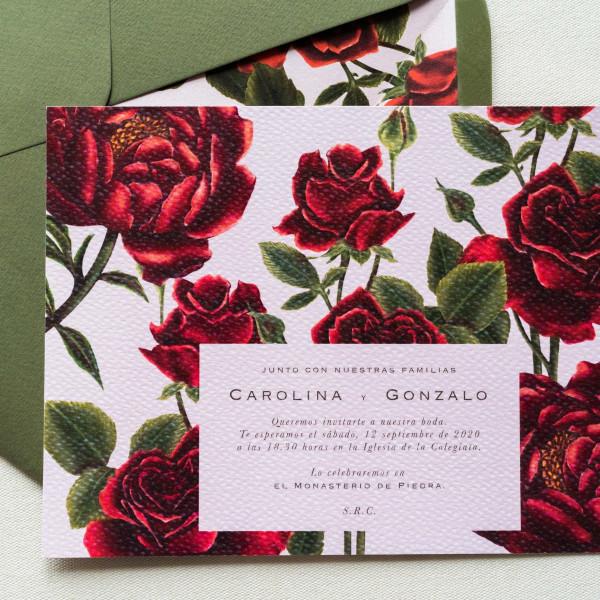 Invitación Rosas